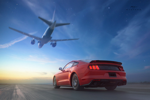 Ford Mustang Airplane Wallpaper