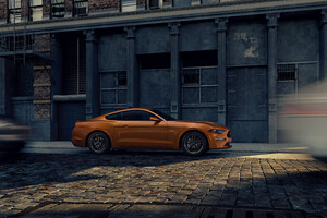 Ford Mustang City Street Wallpaper