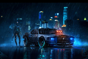 Ford Mustang Cyberpunk Wallpaper