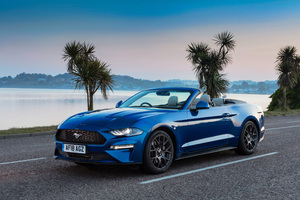 Ford Mustang EcoBoost Convertible 2018 4k