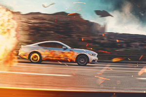 Ford Mustang Fire Wallpaper