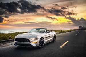 Ford Mustang GT Convertible 2019 4k Wallpaper