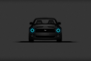 Ford Mustang Minimalistic Dark