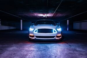 Ford Mustang Neon Lights 5k