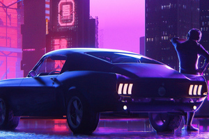 Ford Mustang Retro Vibes 5k Wallpaper