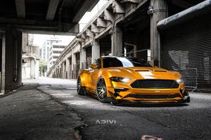 Ford Mustang Widebody Cgi 5k Wallpaper