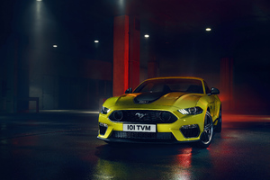 Ford Mustang Yellow 5k Wallpaper