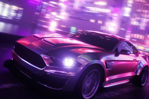 Ford Shellby Synthwave 5k Wallpaper