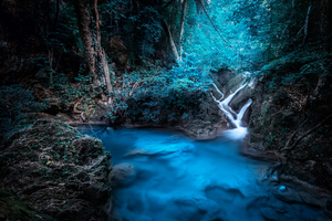 Forest Dreamy Waterfall 4k Wallpaper