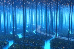 Forest Fresh Breeze Digital Art 4k