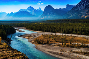 Forest Landscape Mountain Nature River Scenic 4k Wallpaper