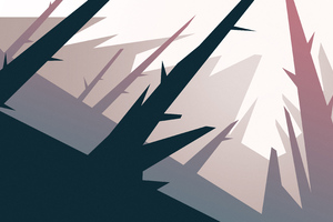 Forest Trees Minimalism 5k