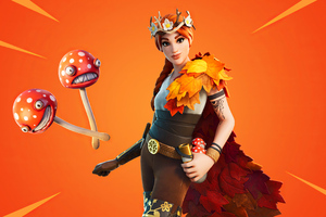 Fornite Autumn Queen Outfit 4k