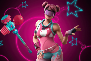 Fortnite Candy Commando Bubble Bomber Outfit 4k