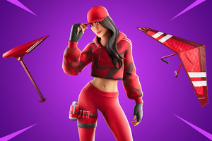 Fortnite Chapter 2 Ruby Outfit 4k Wallpaper