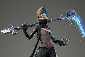 Fortnite Female Ninja Wallpaper
