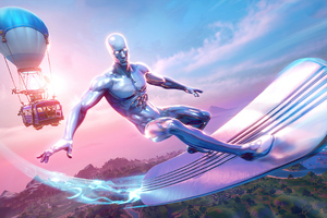 Fortnite Season 4 Silver Surfer Wallpaper