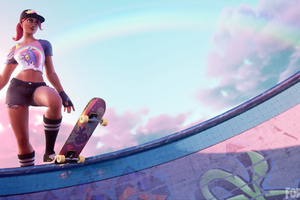 Fortnite Skateboarder Wallpaper