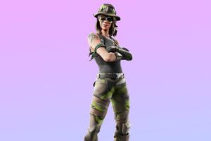 Fortnite Swamp Stalker Skin Outfit 4K