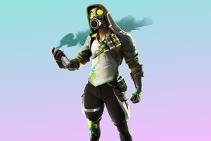 Fortnite Toxic Tagger Skin Outfit 4K Wallpaper