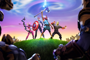 Fortnite X Avengers Wallpaper