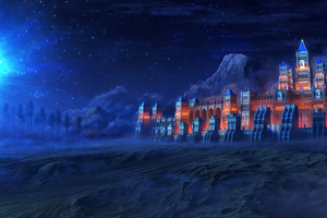 Fortress In Eternal Darkness Castle 4k