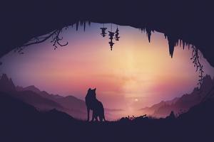 Fox Minimal Artwork 4k Wallpaper