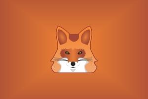 Fox Minimalist 5k Wallpaper