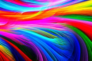 Fractal Shapes Colorful Wallpaper