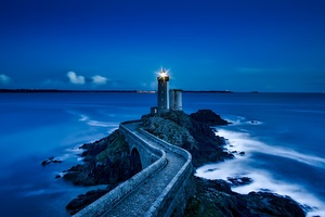 France Lighthouse Landmark Ocean