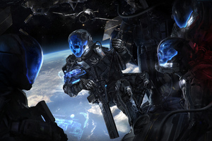 Frontier Buccaneers Scifi Skull Soldiers Wallpaper