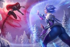 Frostblade Irelia Vs Katarina League Of Legends 4k Wallpaper