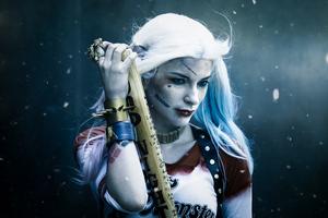 Frosty Harley Quinn 5k Wallpaper