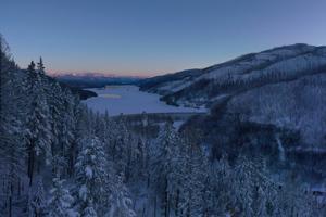 Frozen Dam Landscape 4k Wallpaper
