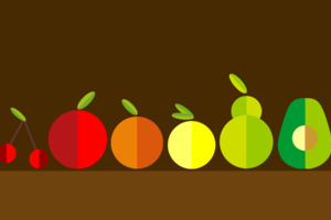 Fruits Minimalism Wallpaper