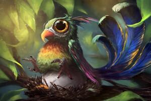 Funky Bird Artwork