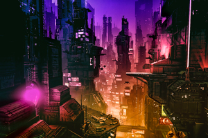 Futuristic City 4k Wallpaper