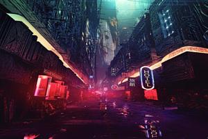 Futuristic City Science Fiction Concept Art Digital Art
