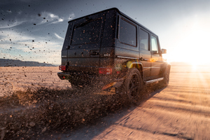 G63 AMG 4k Rear Wallpaper