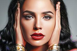 Gal Gadot As Wonder Woman Realism Portrait Art 5k Wallpaper