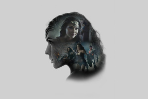 Gal Gadot As Wonder Woman Zack Synders Justice League Minimal Wallpaper