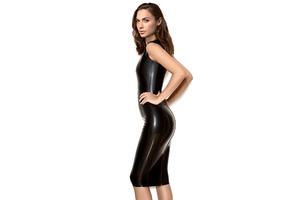 Gal Gadot In Black Latex Dress