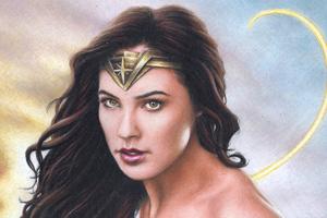 Gal Gadot Wonder Woman Colored Pencil Art 4k Wallpaper