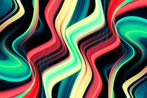 Galactic Wave Abstract 8k Wallpaper