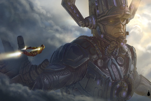 Galactus Vs Iron Man Avengers 4 Concept Art Wallpaper