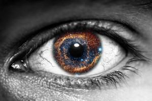 Galaxy Inside Eye