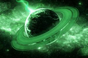 Galaxy Rings Planet 4k