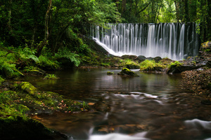Galician Waterfall 4k Wallpaper