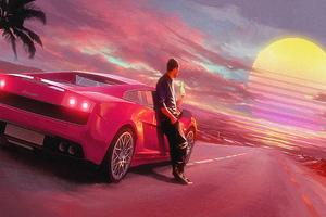Gallardo Sunset View 4k Wallpaper