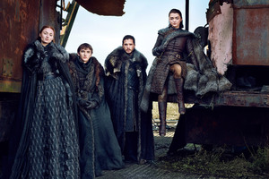 Game Of Thrones Season 7 Bran Stark Sansa Stark Jon Snow Arya Stark Wallpaper